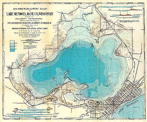 lake monona depth map Frank Lloyd Wright lake monona depth map