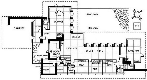 Pdf frank lloyd wright home plans plans free for Usonian house plans for sale