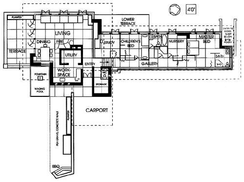 Free home plans frank lloyd wright falling water floor plans for Frank lloyd wright usonian home plans