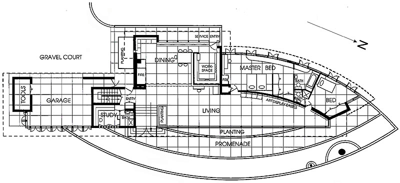 Frank Lloyd Wright – Meyer May House Floor Plan