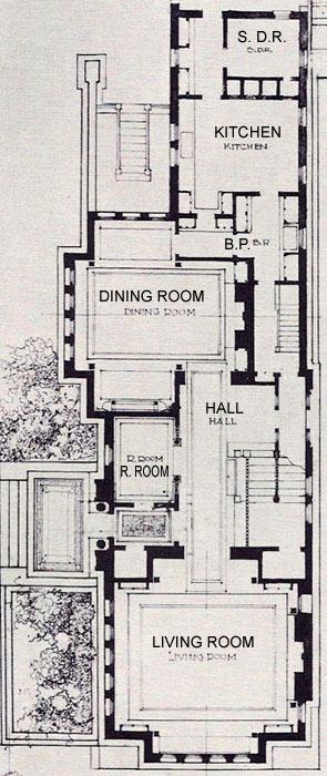 ArchRev1900-FP Steiner House Floor Plan on johnson house plans, chrysler building plans, oliver house plans, fisher house plans, martin house plans,