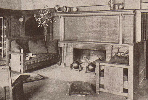 Ordinaire Fireplace And Andirons From The B. Harley Bradley Residence Living Room,  1900 (S.052). Image Courtesy Frank Lloyd Wright, Ausgeführte Bauten, Wright  1911, ...