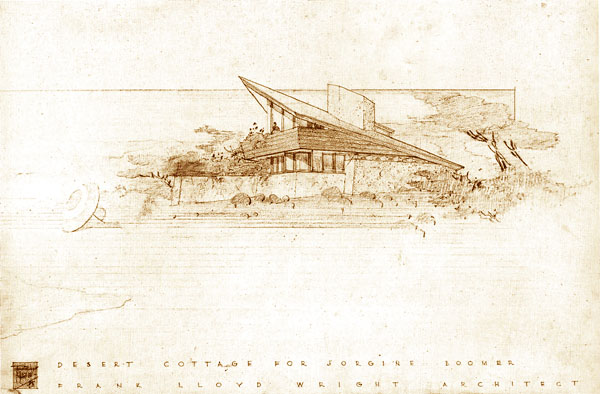 flw an the summer tahoe frank cabin lodge lloyd colony cottage plans elevation for wright exhibits type lake cottages designs