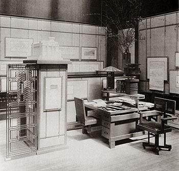 Detail Of The Larkin Building Model And Interior Column.