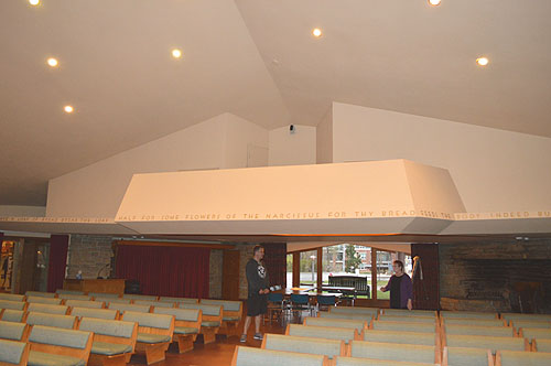 5 Unitarian Meeting House Viewed From The Northwest View Toward Hearth Room A Small Balcony Cantilevers Out Over Seating