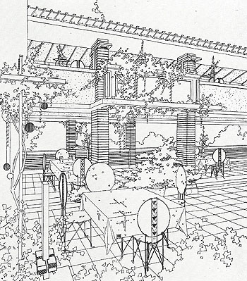 Midway Gardens Drawings Courtesy Of The Frank Lloyd Wright Foundation.