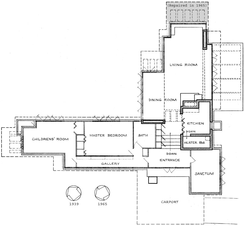 Frank lloyd wright house plans home mansion Frank lloyd wright house floor plans