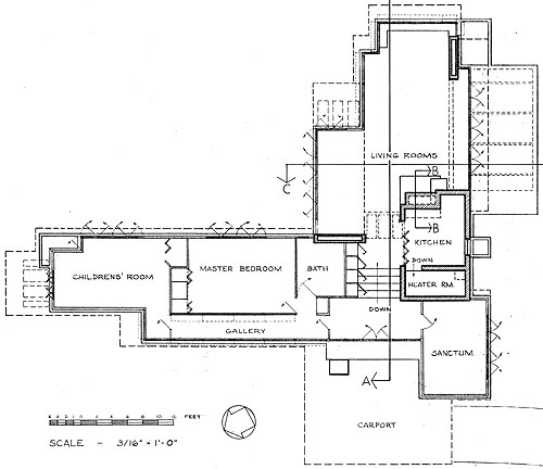 Pope-leighey house floor plan