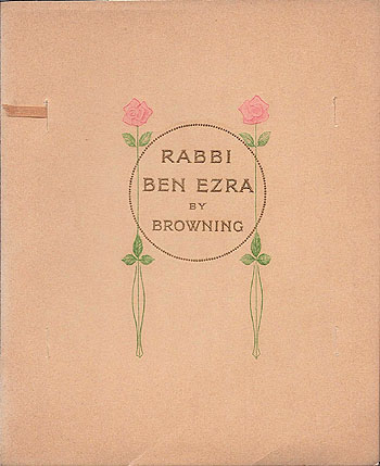 rabbi ben ezra Rabbi ben ezra by robert browning and a great selection of similar used, new and collectible books available now at abebookscom.