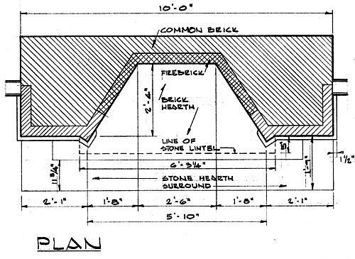 Frank lloyd wright Fireplace plans