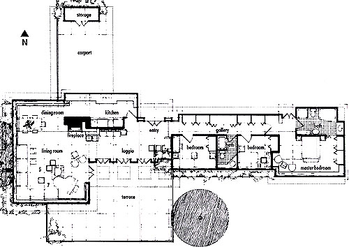Frank lloyd wright for Zimmerman house floor plan