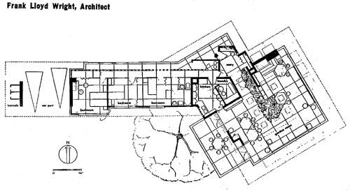 PP-1945-Ill-5 Steiner House Floor Plan on johnson house plans, chrysler building plans, oliver house plans, fisher house plans, martin house plans,