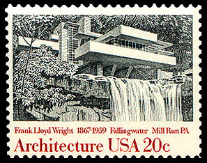 Frank lloyd wright for New york state architect stamp